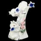 """Сувенир """"Два слонёнка с розами"""" 15х7,5х5,5 см"""