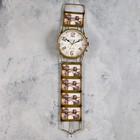 """Часы настенные """"Наручные часы""""d=15cм,5 фоторам, коричневые,металл,ретро (фото 10х6) 17*71 см"""