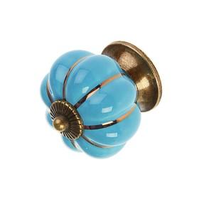 Ручка-кнопка Ceramics 001, керамическая, синяя