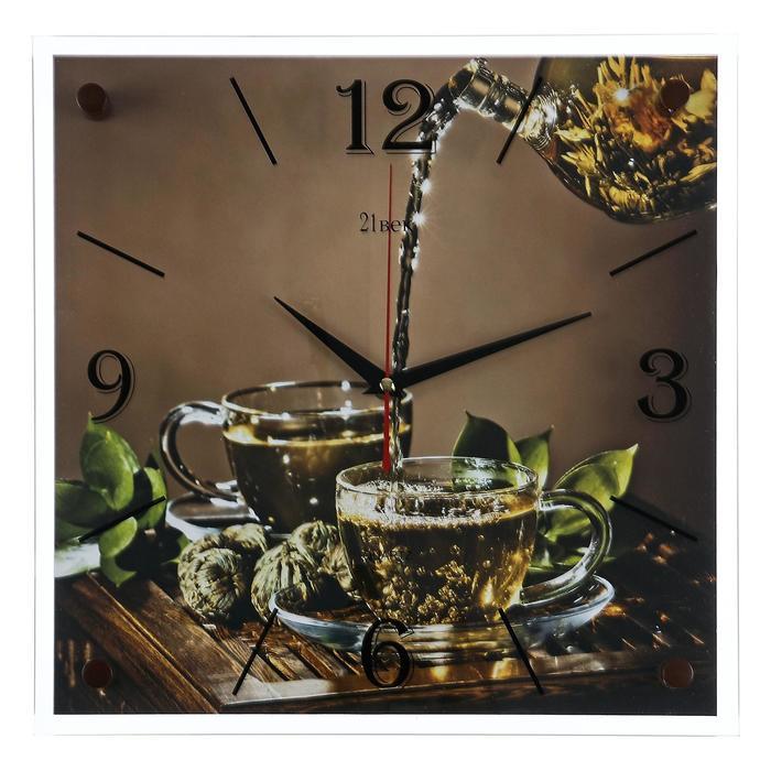 """Часы настенные, серия: Кухня, """"Чайная церемония"""", 35х35  см, микс"""