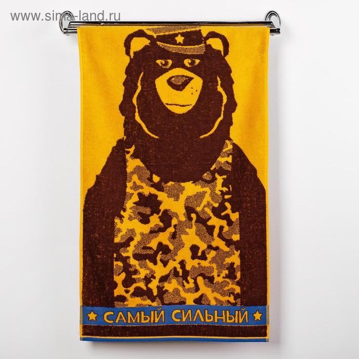 Полотенце махровое Capitan Bear ПЛ-2602-3140, 50х90 см, цв. 10000, корич, 420 г/м, 100% хл   30148