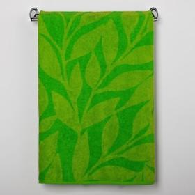 Полотенце махровое Greenery color ПЛ-1202-03086, 100х150, цв. 10000, зеленый, хл.100%, 360 г   30185