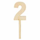 "Топпер цифра ""2"", 4х12см"