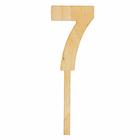 "Топпер цифра ""7"", 4х12см"