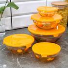 Набор салатников с крышками