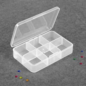 The container for decoration, 6 cells, 9 x 6cm, color: transparent