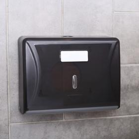 Paper towel dispensers in sheets, plastic, color gray