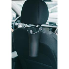 A container for debris in a vehicle Cup holder, black