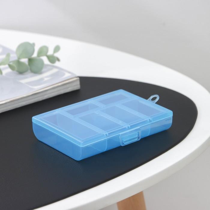 Бокс для хранения, 6 отделений, 12×8,5×2,5, цвет МИКС - фото 308333222