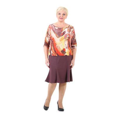 Юбка женская, размер 52, цвет кофейный 111S465