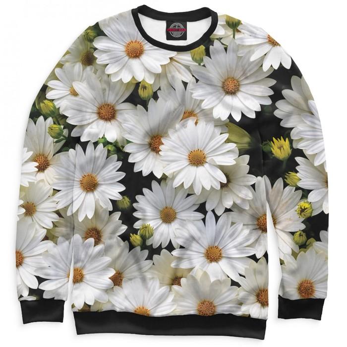 """Свитшот женский """"Цветы"""", размер S CVE-513328"""