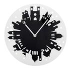 """Часы настенные интерьерные """"Серия Акрил. Город"""", d=30 см, чёрно-белые"""