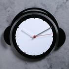 """Часы настенные, серия: Детские,  """"Плеер"""", черные с белым, 25х30 см"""