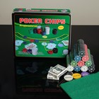 Poker game set (cards 2 decks, chips 500pcs cloth) 29х33 cm