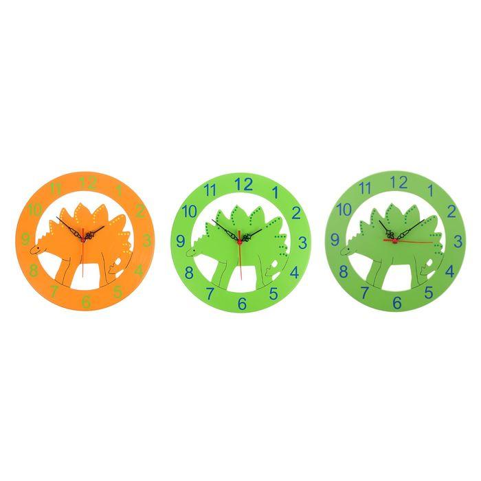 """Часы настенные, серия: Детские,  """"Динозаврик"""", циферблат d=37 см МИКС"""