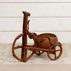 Цветочница «Велосипед», одноместная, 32х18х8 см, лянь, кокосовая скорлупа