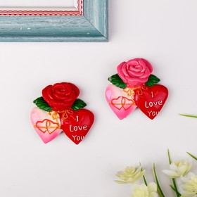 "Magnet ""rose hearts"", MIXED"