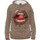"""Худи женское """"Шоколадные губы"""", размер 4XL POP-851917"""