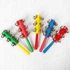 Погремушка с колокольчиками и ручкой, цвета МИКС - фото 105637850