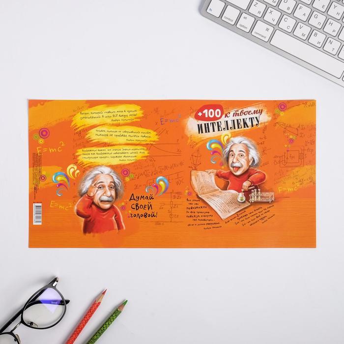 Обложка для книг «+100 к интеллекту», 17 х 33 см
