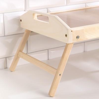 """Столик для завтрака складной, 50×30см, с ручками, орех сонома, """"Добропаровъ"""""""