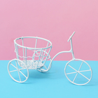 """Подставка для цветов """"Велосипед"""" с корзинкой ( d-8см) 10*18*13 см"""