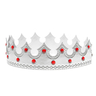 """Карнавальная корона """"Принц"""", цвет серебро"""
