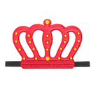 "Carnival crown ""King"" on the elastic band, color red"