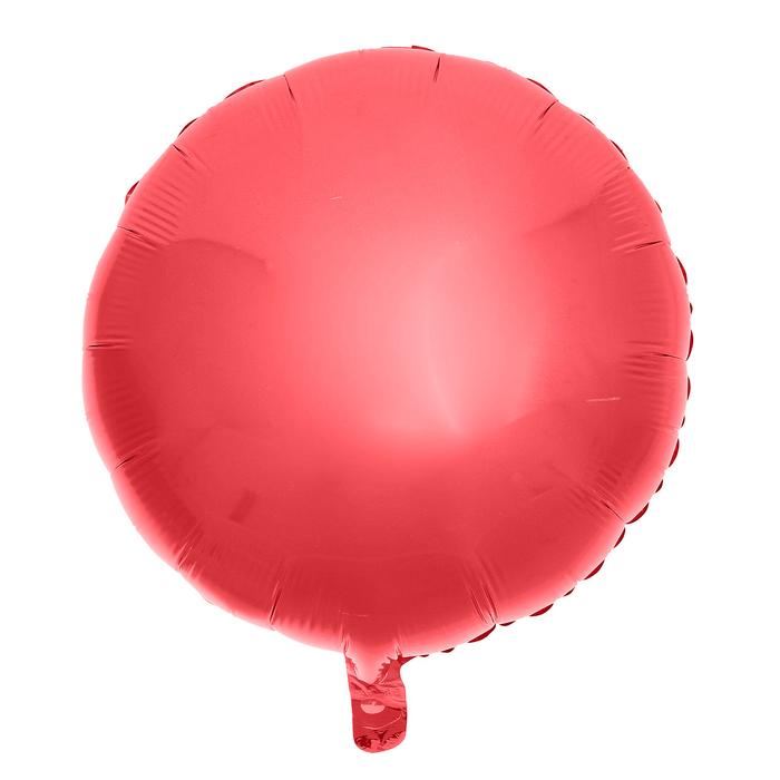 """Шар фольгированный 18"""" «Круг», цвет красный - фото 308475584"""