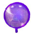 """Шар фольгированный 18"""" """"Круг"""", голография, цвет фиолетовый"""