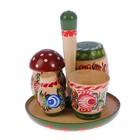 Набор для специй «Лесок», 5 предметов, D тарелки-11 см, H-12 см