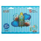"""Букет из шаров """"Бутылочка"""",  фольга, набор из 5 шт, цвет голубой - фото 957514"""