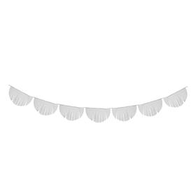Гирлянда-тассел «Полукруг», 3 м, цвет белый