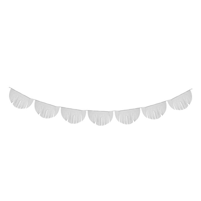 Гирлянда-тассел «Полукруг», 3 м, цвет белый - фото 457591