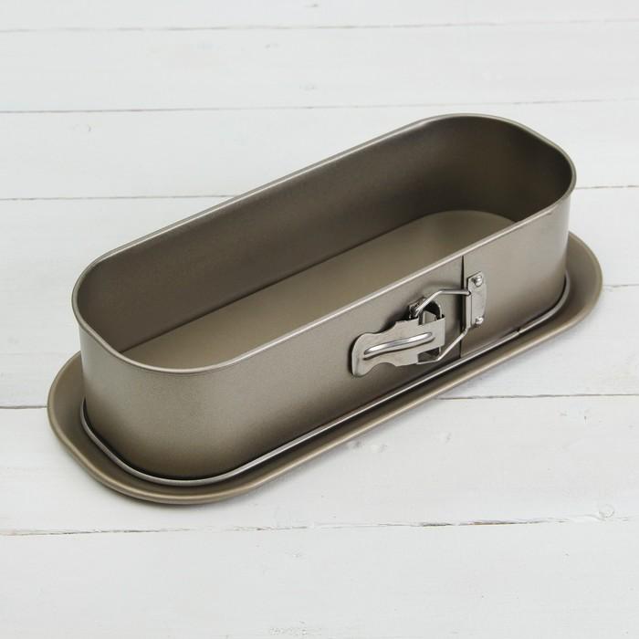 Форма для выпечки разъёмная Доляна «Ханна. Багет», 35×16 см, антипригарное покрытие - фото 308043546
