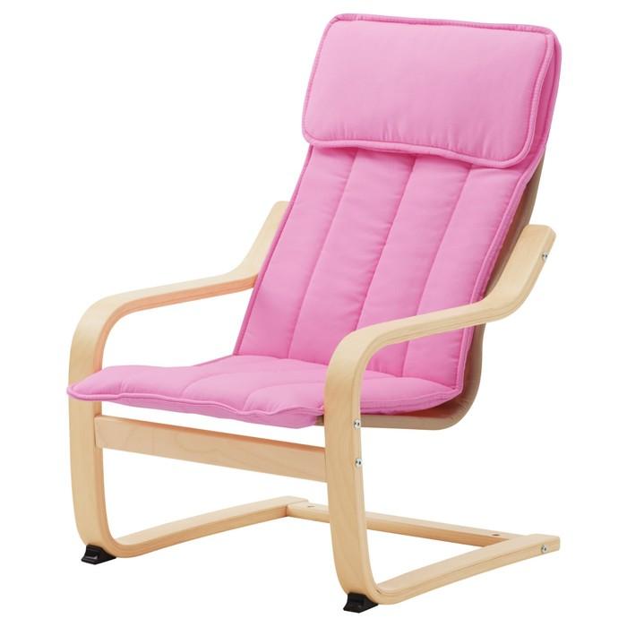 Кресло детское ПОЭНГ, березовый шпон, алмос розовый