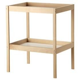 Пеленальный стол СНИГЛАР, макс 11 кг, 72x53 см, бук