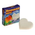 """Минеральный камень """"Перрико"""" для птиц, в виде сердечка, коробочка, 12 г"""
