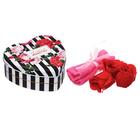 """Набор """"Любимой мамочке"""": 5 мыльных лепестков и полотенце в шкатулке"""