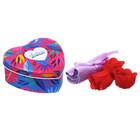"""Набор """"Любимой доченьке"""": 5 мыльных лепестков и полотенце в шкатулке"""