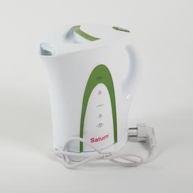 Чайник электрический SATURN ST-EK0002 , 2200 Вт, 1.7 л, белый-зеленый Ош