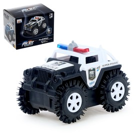 Джип-перевёртыш «Полиция» работает от батареек, МИКС