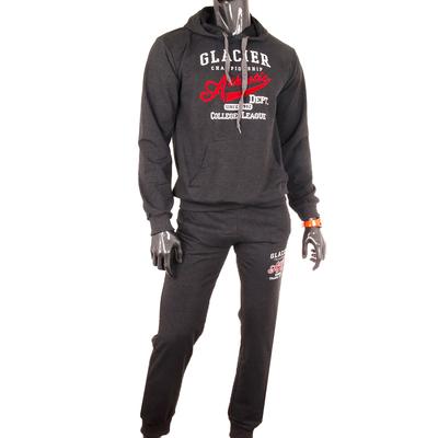 Костюм спортивный мужской (толстовка, брюки) 3036 цвет антрацит меланж, р-р 50-52 (XL)