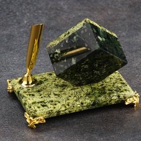"""Часы """"Кубик"""" мини, на бронзовых ножках"""