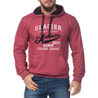 Джемпер-толстовка мужской с капюшоном 3052 цвет бордовый, р-р 48-50 (L)