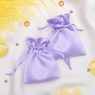 Мешочек подарочный атласный, 7*9 см, цвет сиреневый