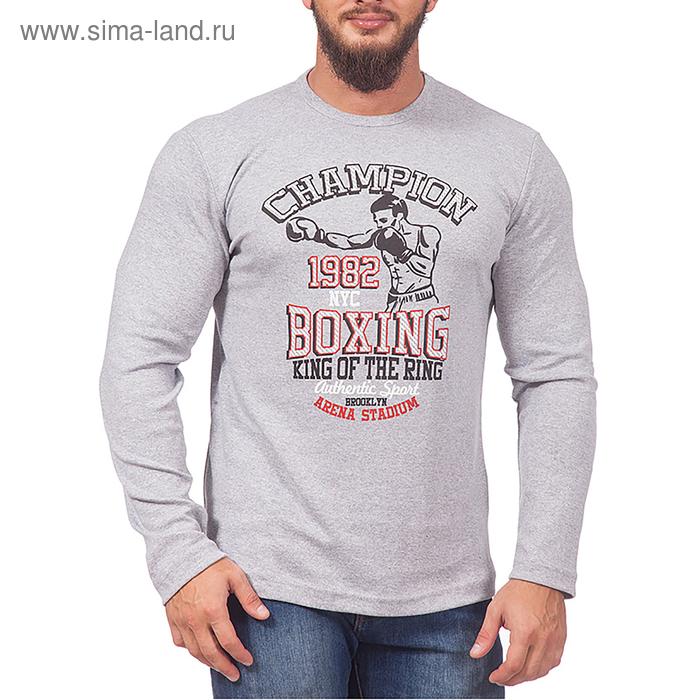 Лонгслив мужской цвет серый меланж, р-р 48-50 (L)