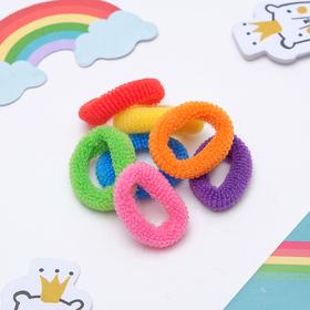 Резинки для волос 'Махрушка' (набор 100 шт.), разноцветные Ош