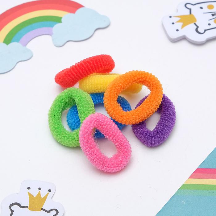 """Резинки для волос """"Махрушка"""" (набор 100 шт.), разноцветные"""