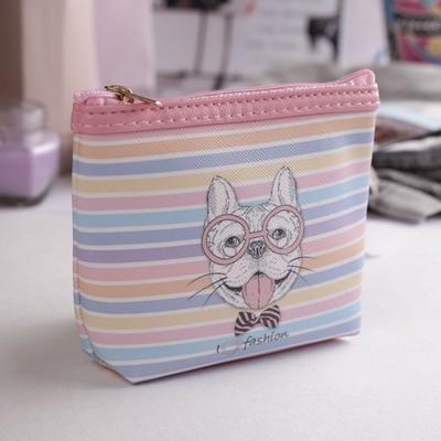 Children's wallet with zipper, 1 Department color pink